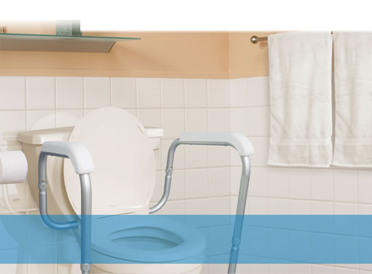 Adjustable Toilet Safety Rails by AquaSense