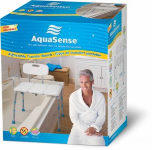 Adjustable Transfer Bench, by AquaSense®
