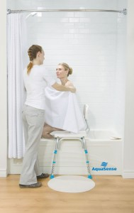 Adjsutable Bathtub Transfer Bench, by AquaSense®, lifestyle