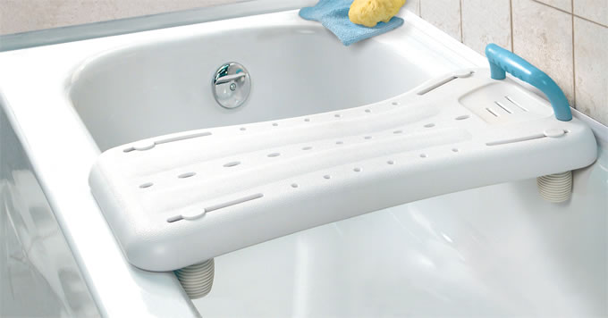 AquaSense® Bath Board installed on bathtub