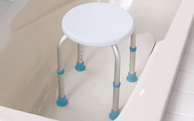 Shower Stool, by AquaSense®, in bathtub