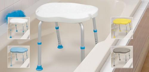 Bath Seats without Backrest, with Ergonomic Shape, by AquaSense®