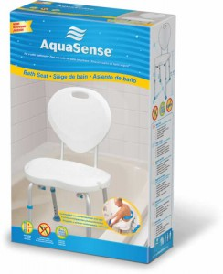 Bath Seat with Backrest, with Ergonomic Shape, by AquaSense®