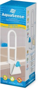 Steel Bath Safety Rail, by AquaSense®, in retail box
