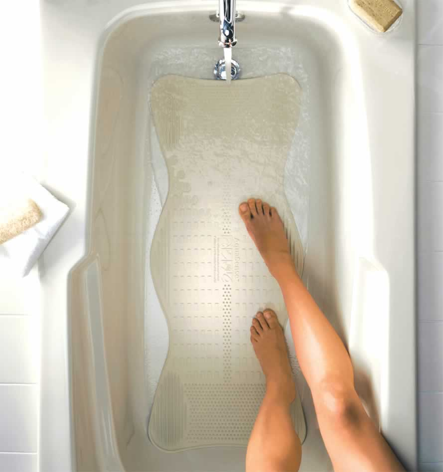 Bath Mat With Invigorating Massage Zones By Aquasense