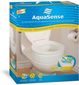 Réhausseur de toilette, par AquaSense®, boîte pour la vente au détail