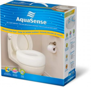 Economy Raised Toilet Seat, By AquaSense®, retail box