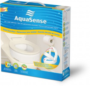 Toilet Seat Riser with Hinge, by AquaSense®, in retail box