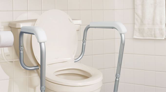 AquaSense Adjustable Toilet Safety Rails