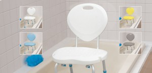 Bath Seats with Backrest, with Ergonomic Shape, by AquaSense®