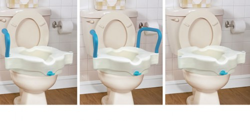 Surprising Elongated Raised Toilet Seat With Lid By Aquasense Caraccident5 Cool Chair Designs And Ideas Caraccident5Info
