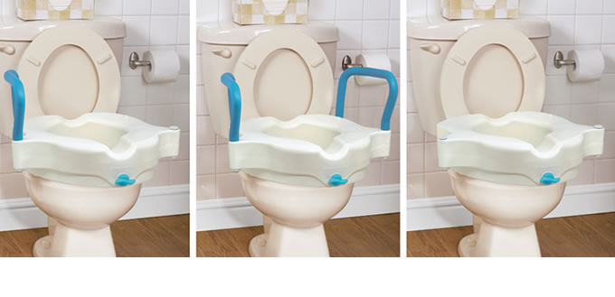 Stupendous 3 In 1 Raised Toilet Seat By Aquasense Aquasense Caraccident5 Cool Chair Designs And Ideas Caraccident5Info