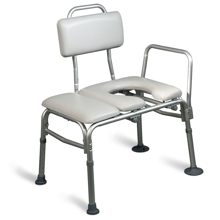 AquaSense Padded Bathtub Transfer Bench With Commode Opening ...