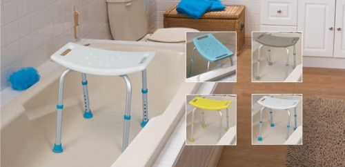 Asientos para baño ajustables, sin respaldo, por AquaSense ®