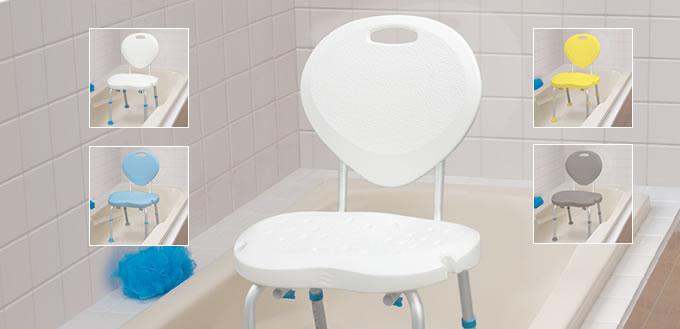 si ges de bain ergonomiques avec dossier par aquasense aquasense. Black Bedroom Furniture Sets. Home Design Ideas