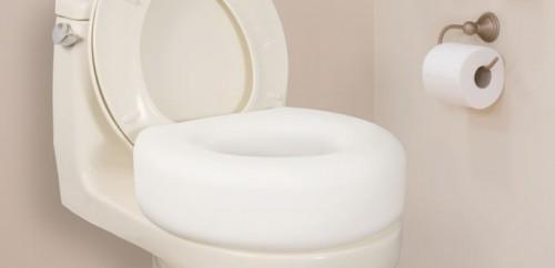 Siège de toilette surélevé économique, par AquaSense®