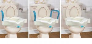 Siège de toilette surélevé 3 en 1, par AquaSense®