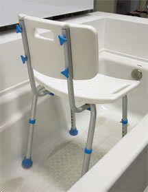 Adjustable Bath Seat With Back by AquaSense