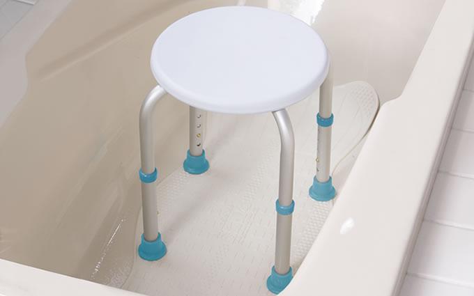 Shower Stool, by AquaSense®, in bathtub