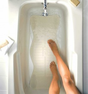AquaSense® Bath Mat with invigorating massage zones, in bath tub