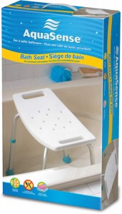 Adjustable Bath Seat without Back, by AquaSense®, in the box