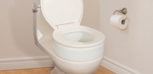 Toilet Seat Riser, by AquaSense®, in bathroom