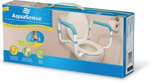 Toilet Safety Rails, by AquaSense®, retail box