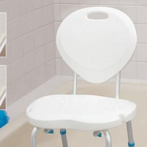 Bath Seats with Backrest, with Ergonomic Shape, by AquaSense®