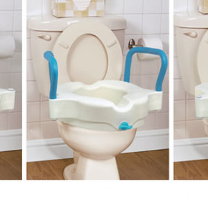 3-in-1 Raised Toilet Seat, by AquaSense®