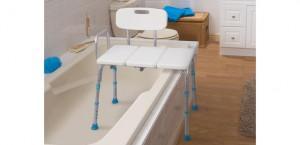Banco ajustable de desplazamiento para bañera, AquaSense®