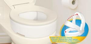 Elevador de asiento de retrete con bisagras, AquaSense®