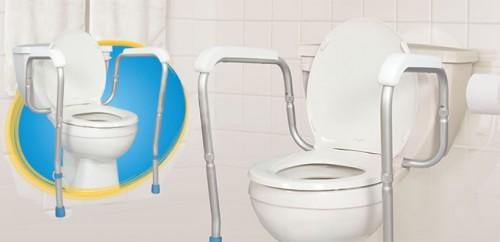 Barre d'appui ajustable pour toilette, par AquaSense®